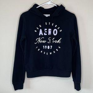 Aero Black Aeropostale Print Hoodie Size Small